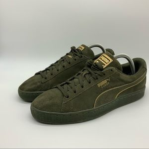 PUMA SUEDE OLIVE GREEN SNEAKERS